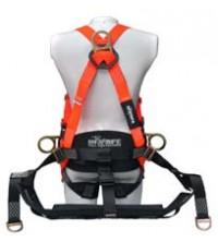 INSAFE Arnes 4 puntos en H soporte lumbar y silla suspensión cuerpo completo