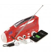 Radio linterna solar-dinamo para emergencias