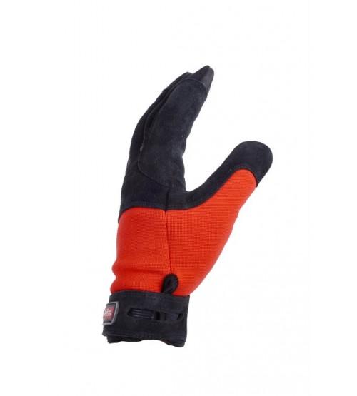 Control guantes cuero  manejo cuerdas rappel belay Edelweiss