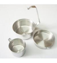 Aluminio marmita 3 piezas