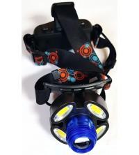 Linterna frontal LED 5 focos recargable Generica